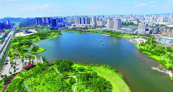株洲河西风景照片
