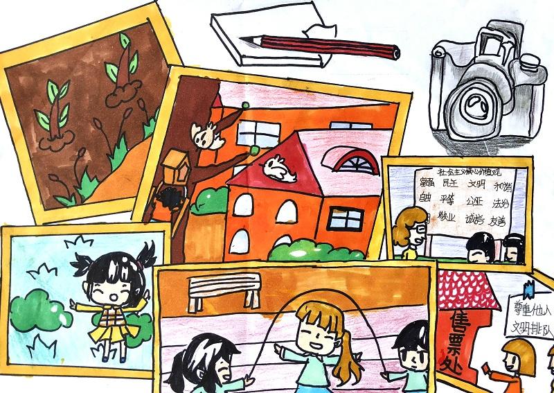 【童画新时代-手绘价值观作品展】朱阳阳/荷塘区