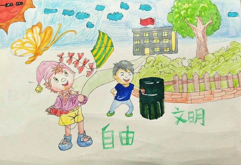 【童画新时代-手绘价值观作品展】易应煌/石峰区