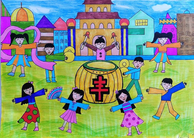 【童画新时代-手绘价值观作品展】袁嘉琦/石峰区
